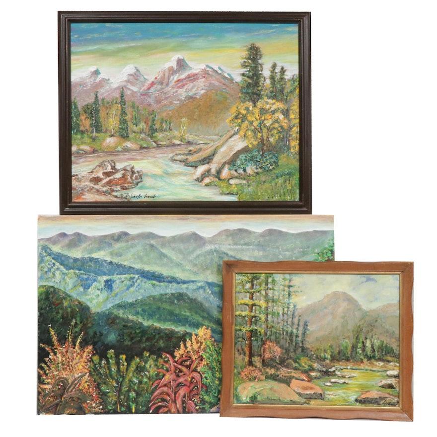 Leszek Pilarski Mountain Landscape Acrylic Paintings