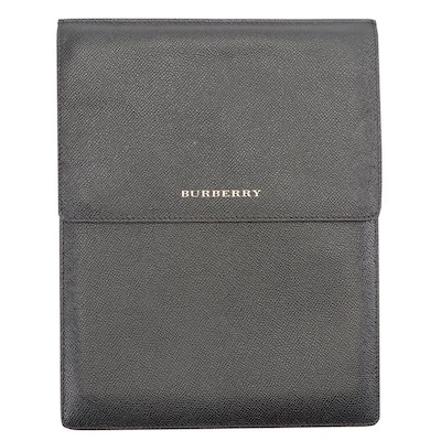 Burberry Grainy Black Leather Continental Wallet
