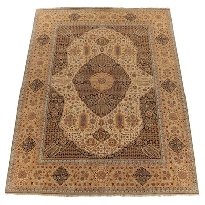 Hand-Knotted Indian Peshawar Style Wool Room Sized Rug