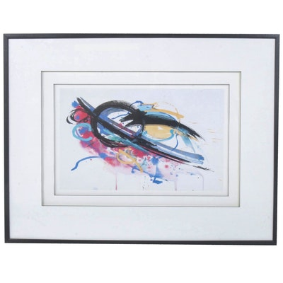 Abstract Offset Lithograph