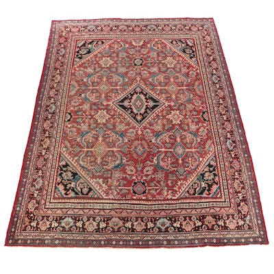 Hand-Knotted Persian Mahal Wool Room Sized Rug