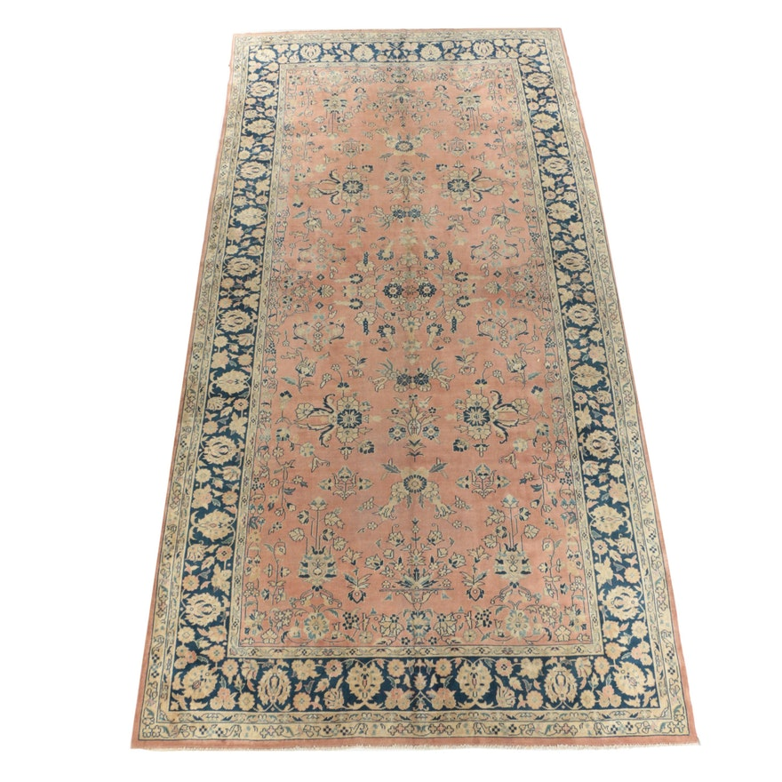 Hand-Knotted Turkish Isparta Wool Long Rug