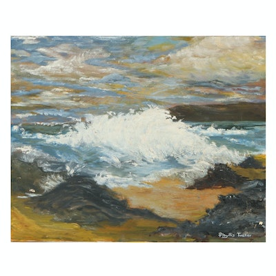 Phyllis Tucker Oil Painting of Seascape