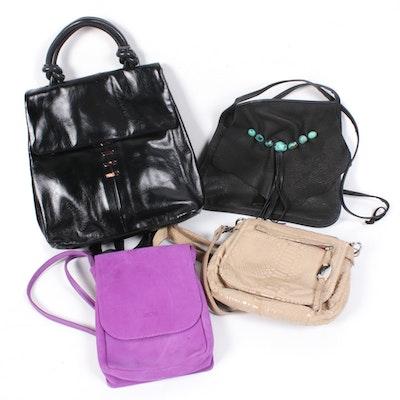 Espe, Perlina, Arche, Erda Leather and Suede Crossbody Bags