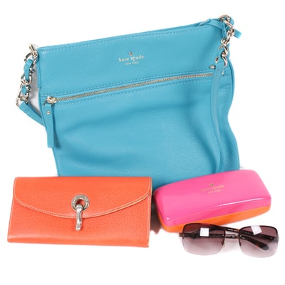 Kate Spade New York Crossbody, Wallet, and Sunglasses with Case