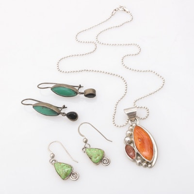 Sterling Silver Imitation Gemstones Assorted Jewelry