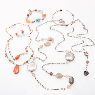 Sterling Silver Multi Gemstones Assorted Jewelry