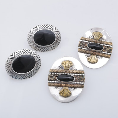 James Avery and More Sterling Silver Onyx Earrings
