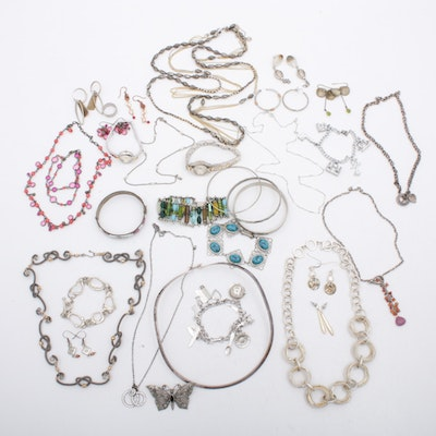 Ayala Bar and More Silver Tone Jewelry, Contemporary