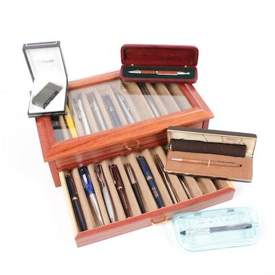 Cross Gold-Filled Pen, Sensa, and Various Ballpoint Pens