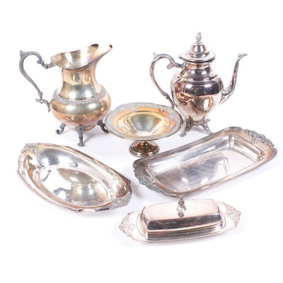 Silver on Copper and Silver Plate Tableware, Mid to Late 20th Century