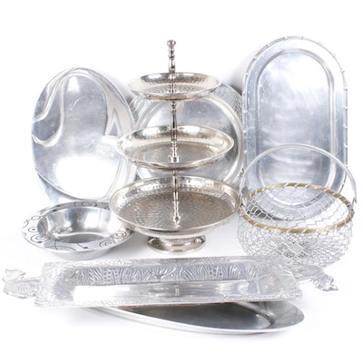 Wilton Armetale and Other Assorted Metal Servingware