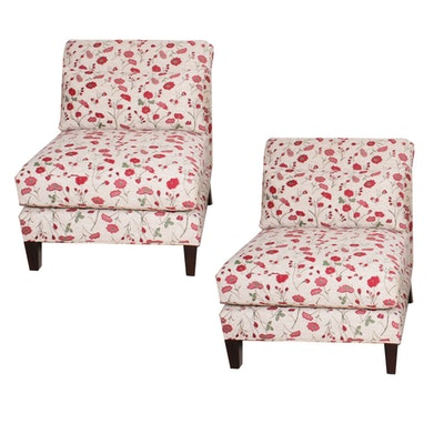 Contemporary Arhaus Poppy Upholstered Side Chairs