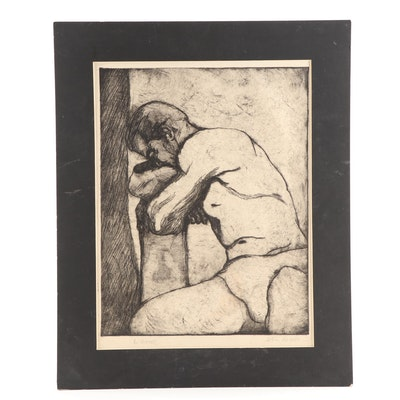 """Etching """"L' Homme"""""""