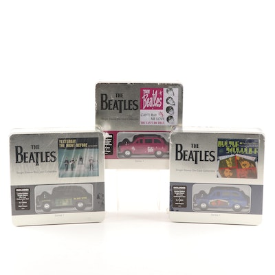 Beatles Series 1 Collectible Sets Featuring Die Cast Vehicle, T-Shirt and Plaque