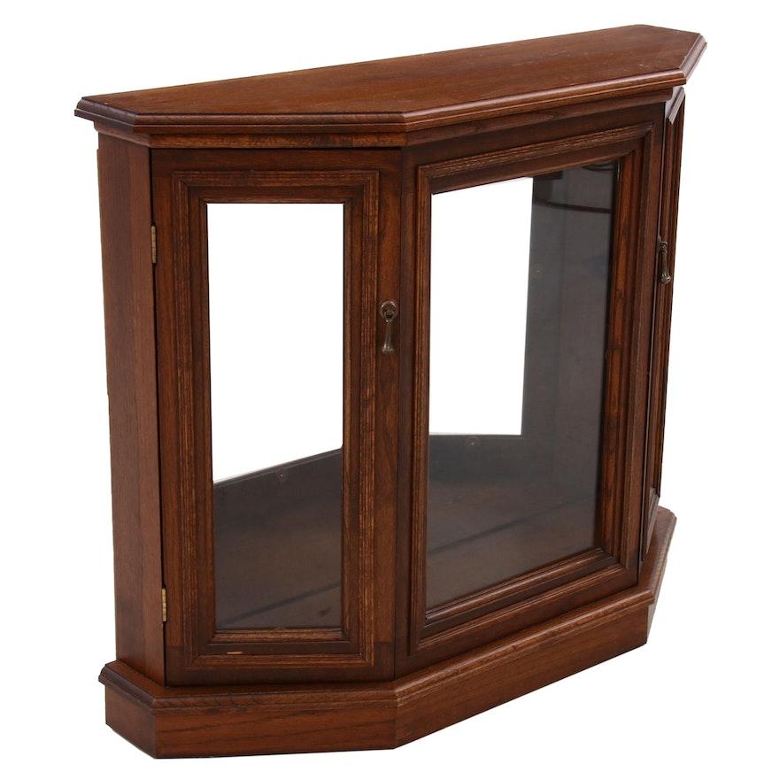 Oak Illuminated Display Cabinet, Late 20th Century