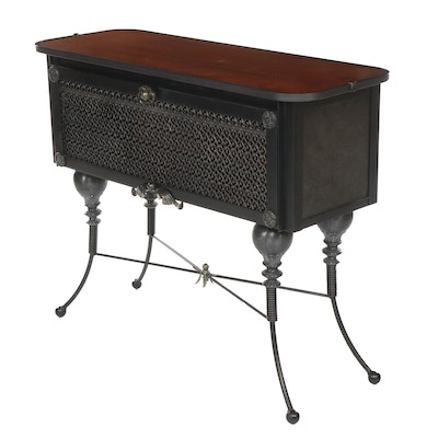 Contemporary Victorian Style Metal and Wood Sideboard