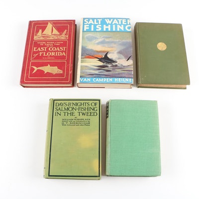"Fishing Books including First Edition ""Where, When and How to Catch Fish"""