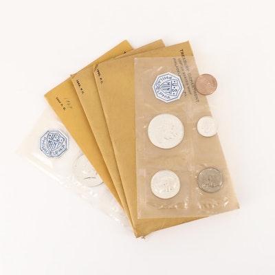 Five Vintage U.S. Mint Proof Sets, 1962 to 1964