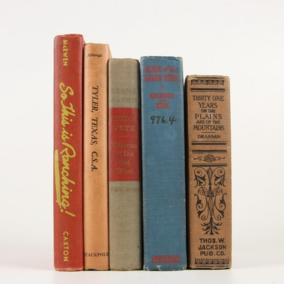"First Edition ""Pistol Pete"" with More Books on Early Western Life"