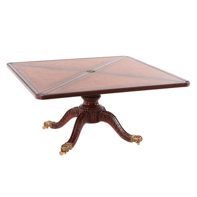Queensberry Duncan Phyfe Style Mahogany Finish Coffee Table