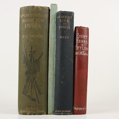 "1890 ""Eight Years in Ceylon"", ""The Sportman's Book for India"" and Others"