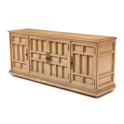 Century Furniture Italian Style Pecan Credenza, Late 20th Century