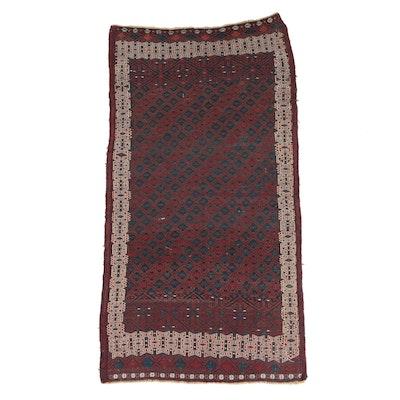Handwoven Perisan Baluch Wool Kilim