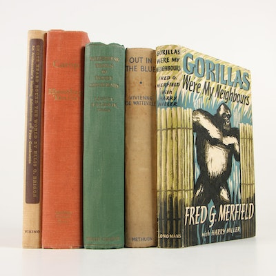 "First Edition ""Wilderness Trails in Three Continents"" by Leslie with Other Books"