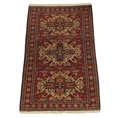 Hand-Knotted Persian Abadeh Wool Area Rug