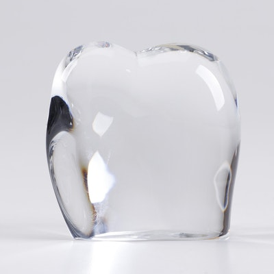 Baccarat Crystal Elephant Paperweight