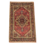 Hand-Knotted Indo-Persian Serapi Wool Area Rug