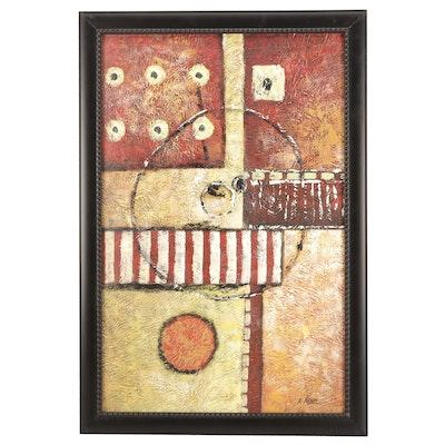 A. Nekov Gemoetric Abstract Acryilc Painting