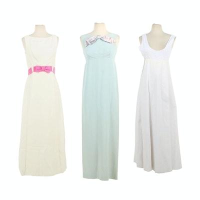 Sleeveless Maxi Dresses, 1960s Vintage