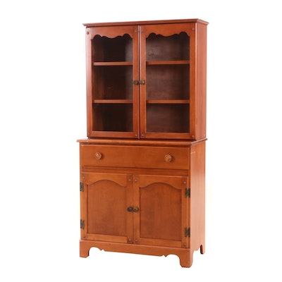 Colonial Revival Birch Cabinet, 20th Century