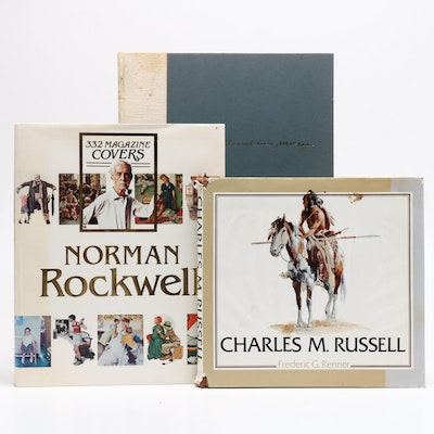 Art Books with Norman Rockwell, Charles M. Russell, and Grandma Moses