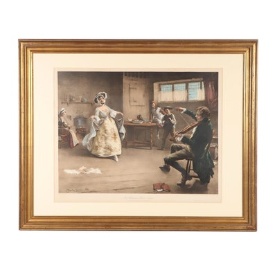 "Lithograph After Charles MacIver Grierson ""Peg Woffington's Visit to Triplet"""