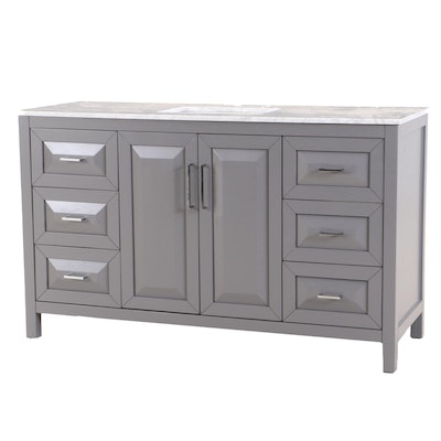 Wyndham Collection Marble Top Vanity Contemporary