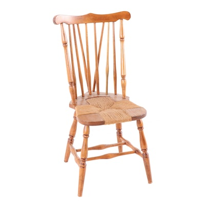 Pine Rush Seat Side Chair