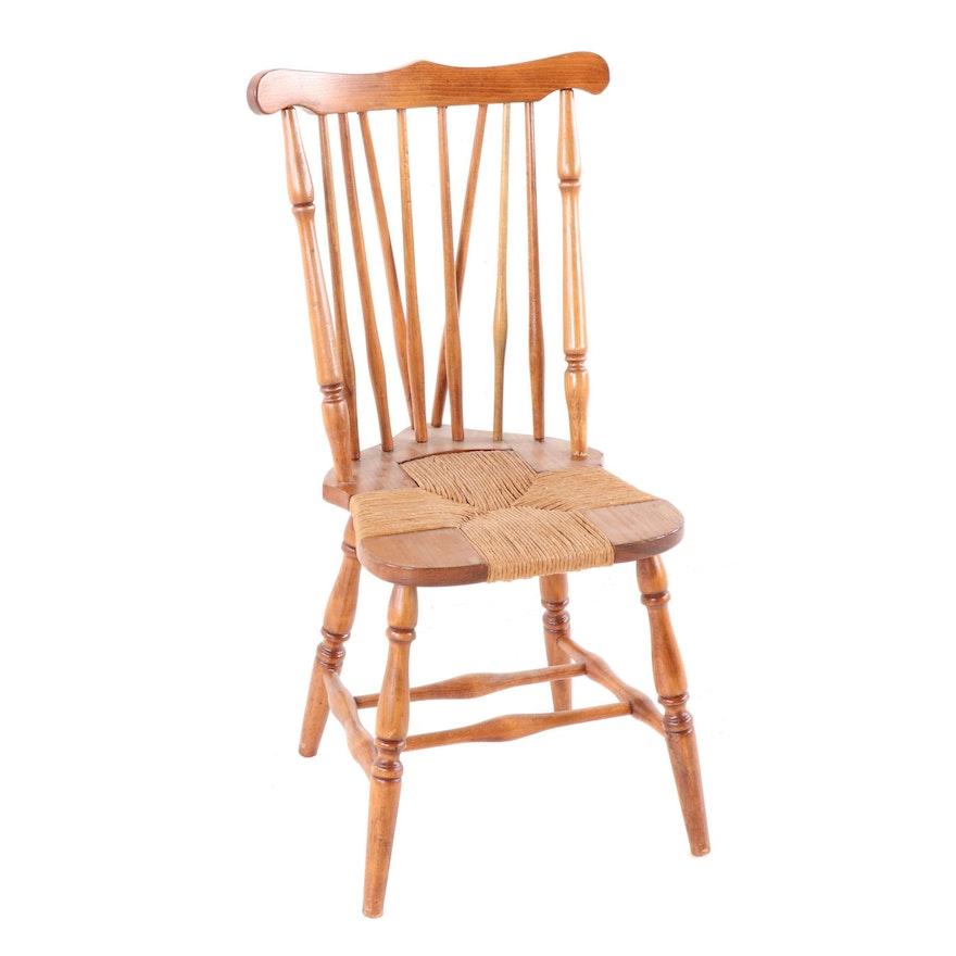 Pine Rush Seat Side Chair