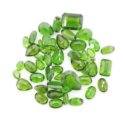 Loose 27.93 CTW Diopside Gemstones