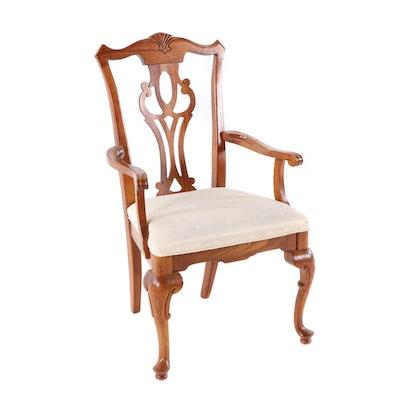 Broyhill Furniture Cherry Queen Anne Style Armchair