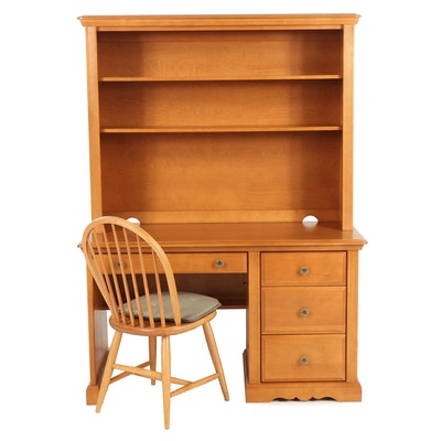 Dutailier, Bookcase-on-Desk Plus Chair