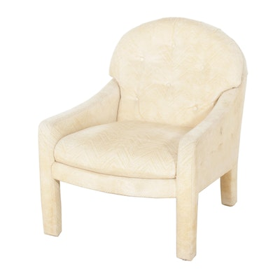Cream Fully-Upholstered Armchair, Late 20th Century