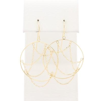 14K Yellow Gold Dangle Earrings