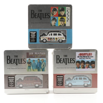 Beatles Series 2 Collectible Sets Featuring Die Cast Vehicle, T-Shirt and Plaque