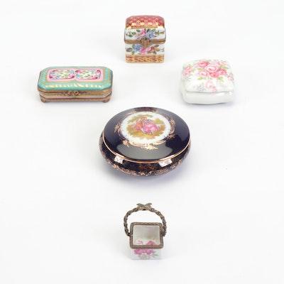La Gloriette, Castel, Eximious and Other Limoges Hand-Painted Porcelain Trinkets