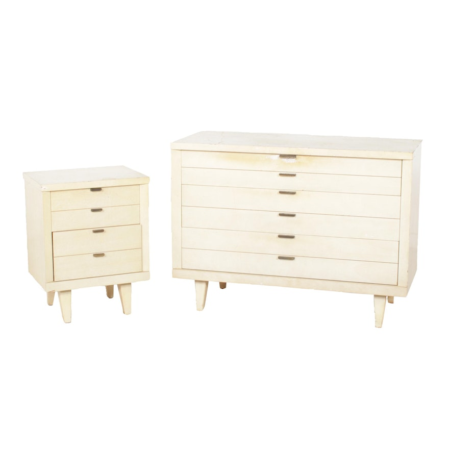 Huntley Furniture Chest of Drawers and Nightstand