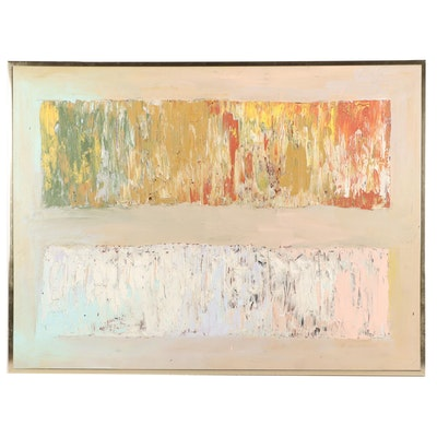Jacqueline Kaplan 1979 Abstract Acrylic Painting