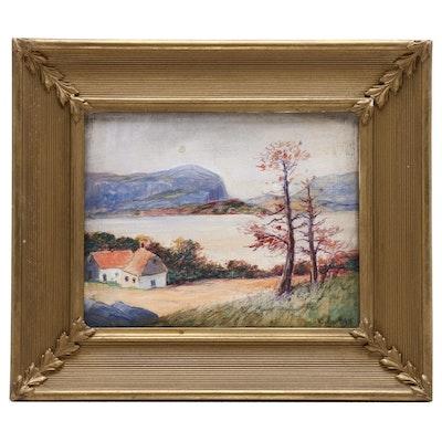 Oscar Alf Oil Landscape Painting